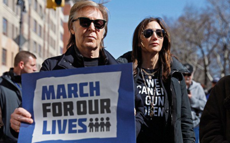 Paul McCartney at March For Our Lives rally