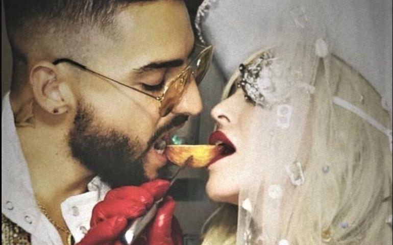 Madonna with Maluma