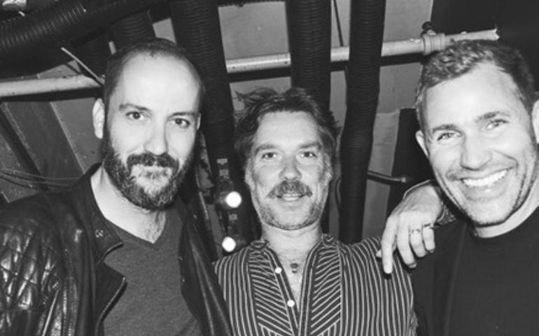 Fred Falke, Rufus Wainwright and Zen Freeman at Sunset Marquis. Photo by Ben Watts