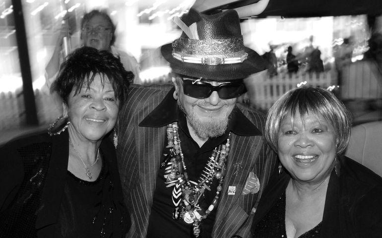 Dr. John with Mavis and Yolanda Staples, Toronto Jazz Festival, 2013. Photo: Bill King