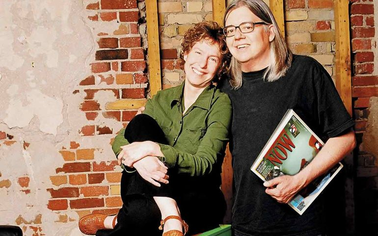 In happier times, Alice Klein and Michael Hollett. Pic: Now magazine