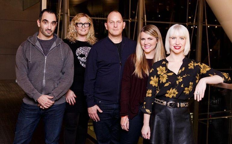 Moncada, Symsyk, Sullivan, Fitzgerald and (centre) eOne Music topper Chris Taylor