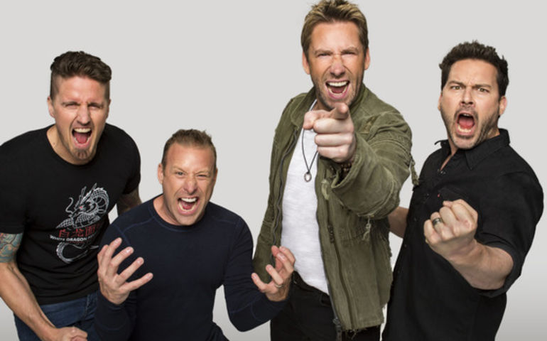 Chad and the lads in Nickelback are back on the chart!