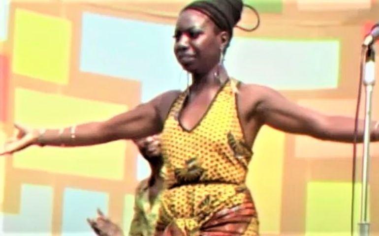 'Summer of Soul' teaser trailer screen capture of Nina Simone at Harlem Cultural Festival, 1969.