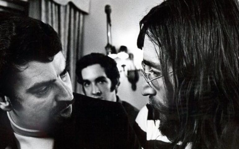 Order of Canada appointee Andre Perry with John Lennon at the Queen Elizabeth Hotel in Montreal