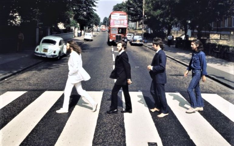Outtake image from Abbey Road photo shoot. Image - thebeatles.com