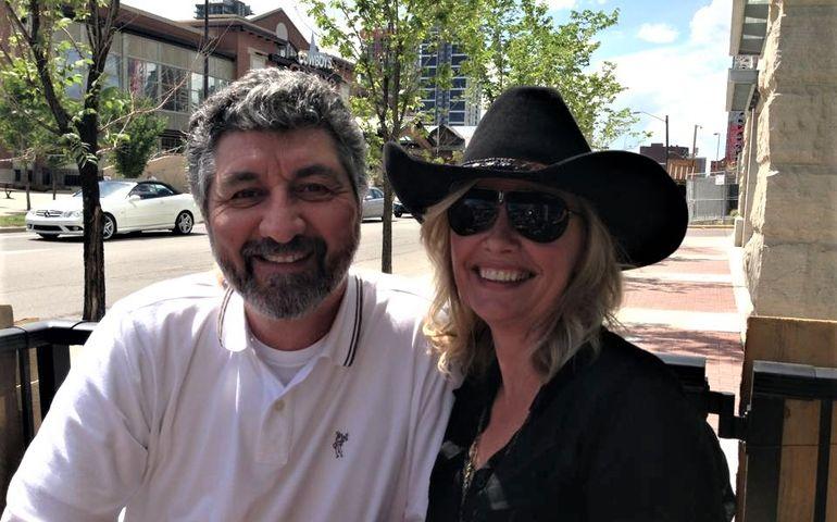 Pat and partner Vivi Neggers enjoying retirement.