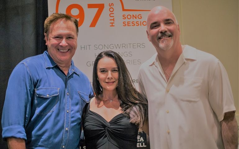 L-R: Grammy winning songwriter Tim Nichols with Robin and Robert Ott
