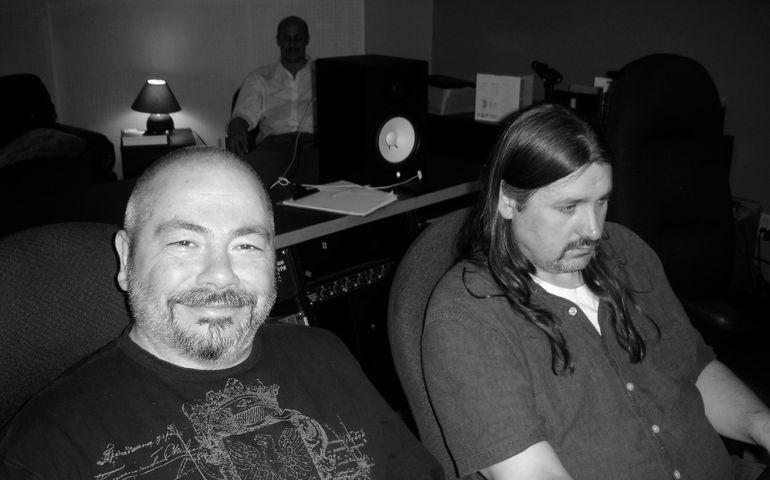 Peter Cardinali (l) and his longtime engineer John 'Beetle' Bailey
