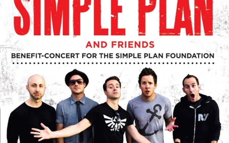 Poster for a Simple Plan Foundation benefit concert