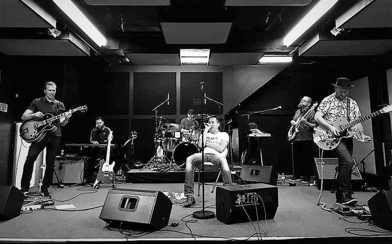 The band rehearsal before the show