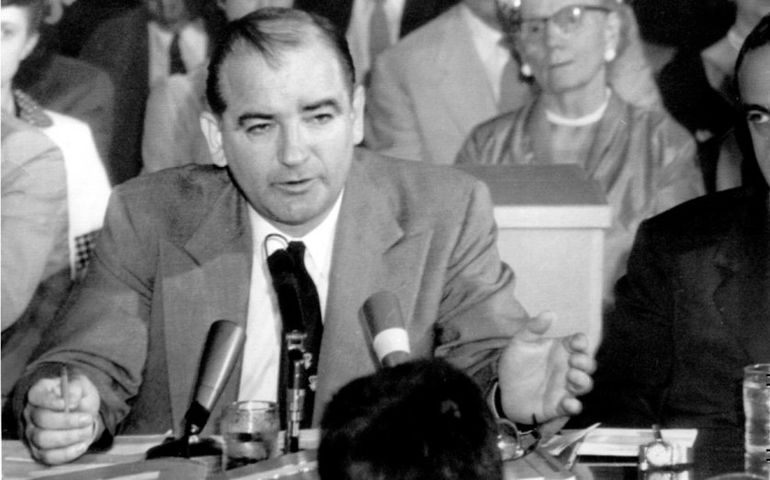 Senator Joe McCarthy during his reign of red scare terror over Hollywood
