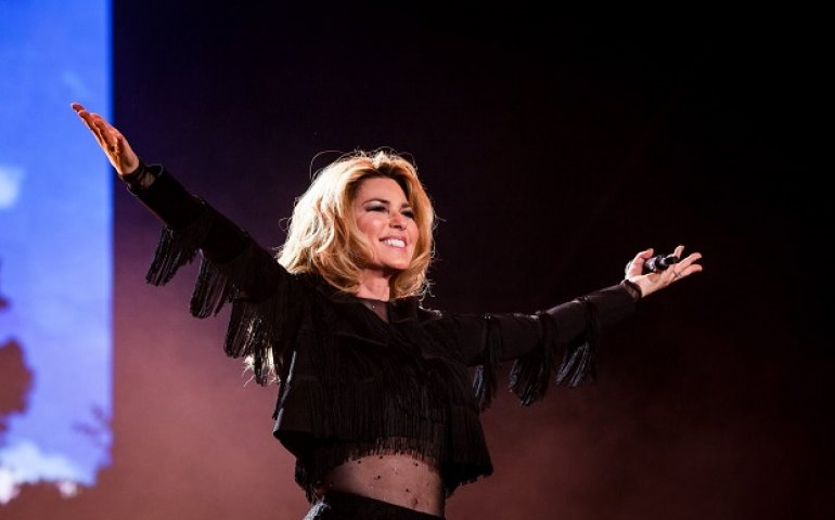 Shania Twain at the Stagecoach fest on the weekend