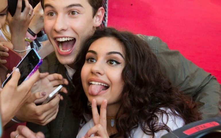 Shawn Mendes and Alessia Cara. Pic: Pinterest