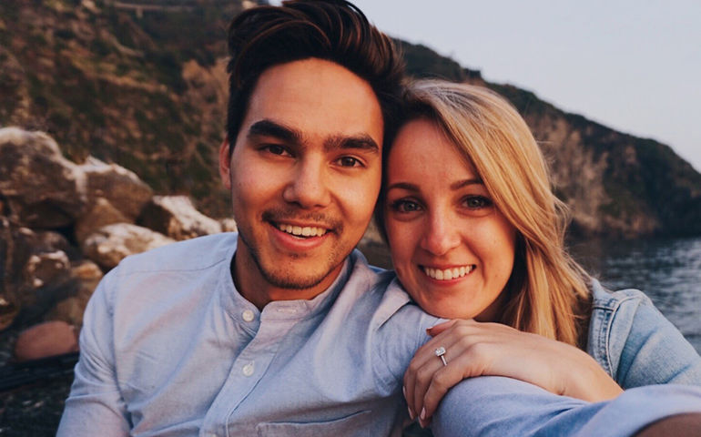 Tyler Shaw's latest hit was written for his fiancé, Alex Karolczyk. Pic: Tyler Shaw