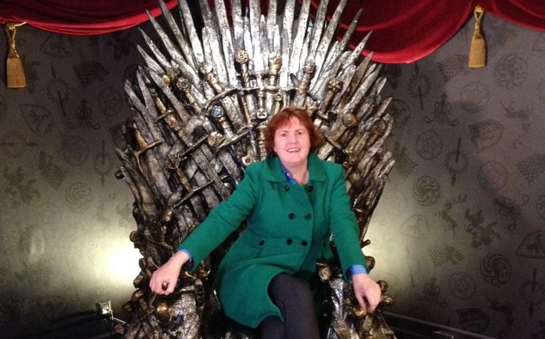 The media queen on her throne. Pic provided.