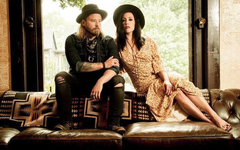 Jimmy Thow and Chrystal Leigh of Sons of Daughters