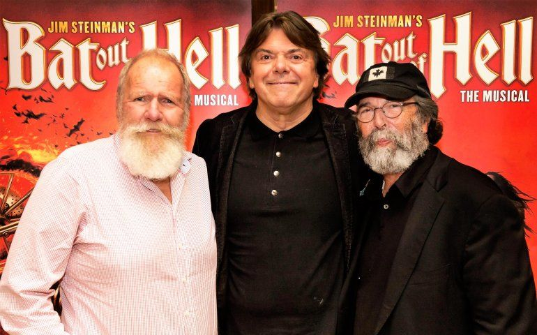 Genesis manager and co-producer Tony Smith with Randy Lennox and Michael Cohl.