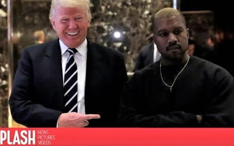 Potus with Kanye at Trump Tower. Pic: Splash Media