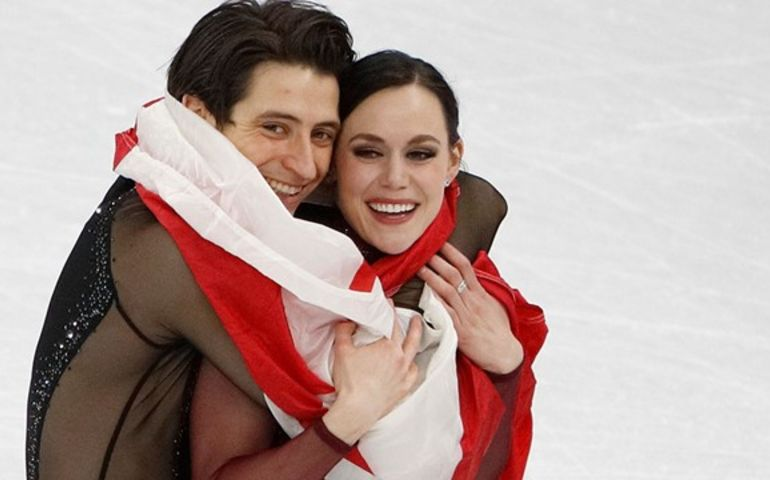 "A CBC video montage of the two-decade-long career of Virtue and Moir set to the Jim Cuddy's quiet ballad, ""Pull Me Through"" puts the song back on the chart."