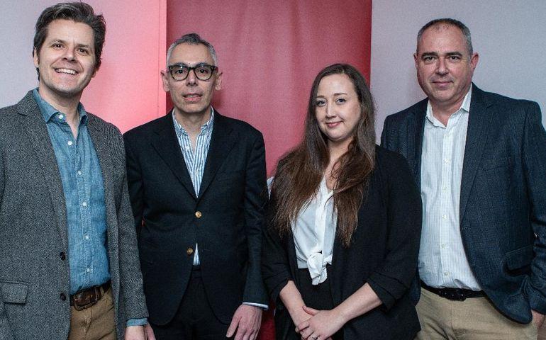 The BMG team: (l-r) Philippe Hamelin, Andreas Katsambas, Bethany Ward and Matt Smallwood