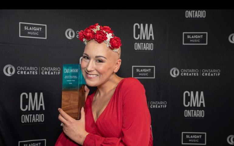 Cadence Grace at CMAO Awards  Photo: Barry Roden