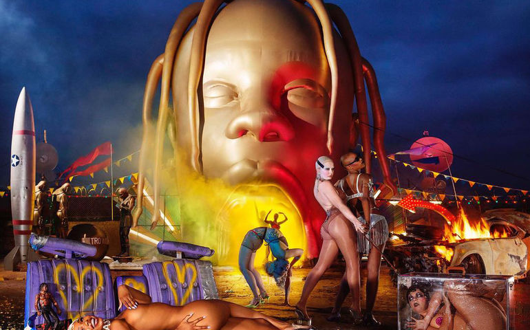 Cover art for this week's No. 1 album, Travis Scott's 'Astroworld'