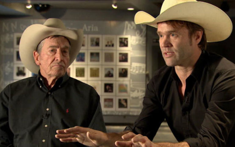 Ian Tyson and Corb Lund Photo: CBC