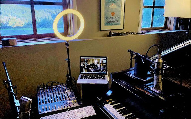 Shari Ulrich's home studio. Pic provided.