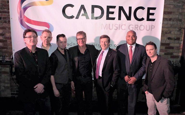 Attending last night's party at the Velvet Underground in Toronto (left to right): Tony Tarleton, Kim Cooke, Jeff Nedza, Iain Taylor, Mayor John Tory, Minister Michael Coteau,  Paul Shaver. Photo: Andrew Roach