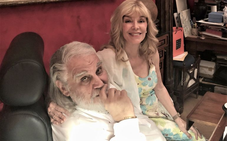 Vangelis and Liona Boyd in Paris. Pic: Liona Boyd