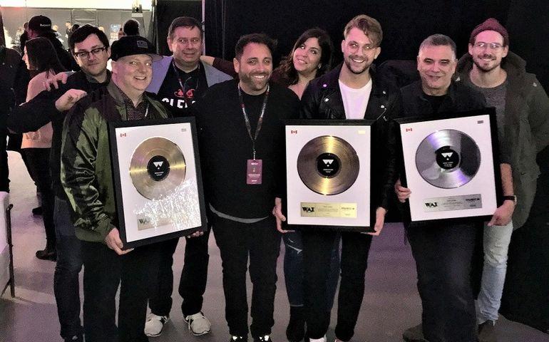 Wax Records team, the DMD guys, iHeartRadio topper Rob Farina and VTV's Derik Baker.