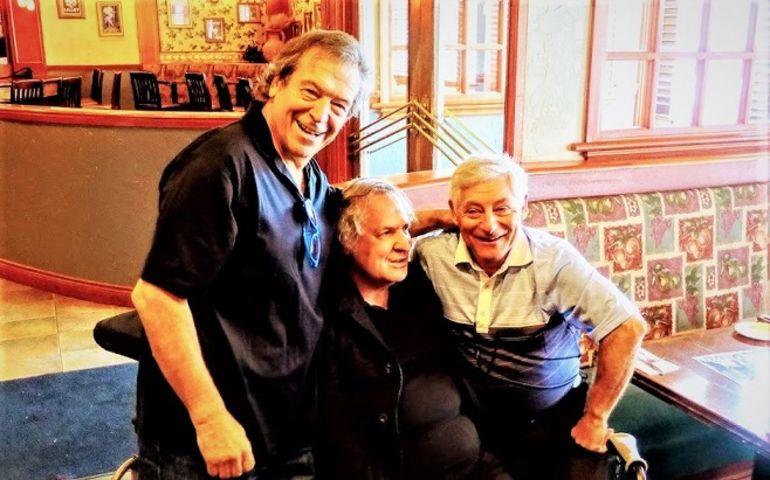 Vito and Don Ierullo and Greg Malta pose at the May 11 birthday bash.