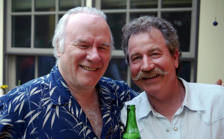 Warren with longtime friend Robert Evans. Pic: Kris Sandels King