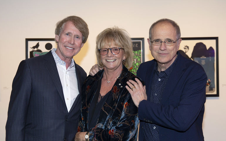 2019 MusiCounts Inspired Minds Ambassador Award Winners Stephen Stohn, Linda Schuyler and Bob Ezrin. PC: CARAS/iPhoto Inc.