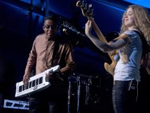 Herbie Hancock with bassist Tal Wilkenfeld. Photo: Bill King