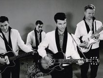 There was Bobby Vee, Bobby Vinton, Bobby Darin, Bobby Rydell,  the Bobby Fuller Four, and in Canada we had our own Bobby Curtola.  The last remaining Bobby is Rydell who, at age 74, continues to perform in Las Vegas, Atlantic City and nostalgia clubs across the US. -- Pictured here, Bobby Vee with his first band, the Shadows, courtesy of the Vee family archives.