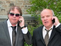 L-R: Brothers James and Ian Boyd catch up at a niece's wedding on the weekend. The brothers co-own Ottawa's Compact Music stores.