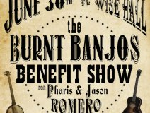 Juno-award winning duet Pharis and Jason Romero lost their banjo shop, their business and their home in a house fire on June 4. On the 30th of this month a benefit is being thrown for the couple and their two children that includes a concert and a private auction. To make a donation, one can find details via Facebook: The Burnt Banjos Benefit Show & Silent Auction.