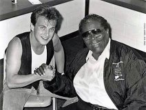 Colin James & BB King circa 1995 at Kingswood Amphitheatre. James is to be inducted in to the WCMA Hall of Fame later this year.