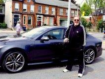 David Clayton-Thomas sports his new Audi on Facebook this past Saturday