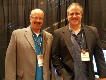 Doug Spence with US cohort Chris Muratore, Chief Business Development Officer at the CMW exhibition hall last week.