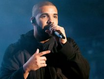 Drake won three awards last night. PIctured here on stage at the 2015 Squamish Music Festival.
