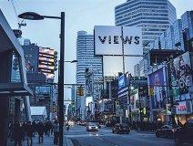 Drake's No. 1 best-seller gets some promotion at Yonge & Dundas in T.O.