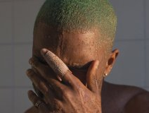 Frank Ocean is either having a 'Blond' moment or fearful he's off Lucian Grainge's Super Bowl party list this year.