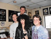 Throwback Thursday: Howie Cogan, Jim Jj Johnston, Cher, and a youthful Pat Cardinal when he was APD at LG73.