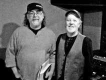 Jamie Vernon (l) with Skip Prokop of Lighthouse. The pair are currently working on a Prokop biography.