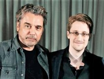 Jarre with Snowden. Photo: The Guardian