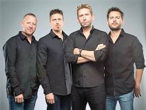 """Loud & proud: Nickelback's latest promo shot taken in advance of tour dates and singing about someone's """"Dirty Laundry."""""""