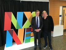Mayor John Tory and Michael Hollett, two big supporters of the live music industry in Toronto.